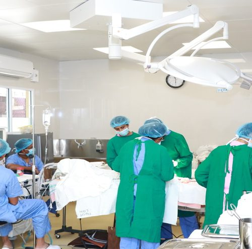 Opening of the burns unit theatre